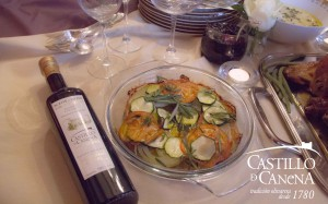 Castillo de Canena - baked vegetables