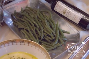 Castillo de Canena - beans and corn