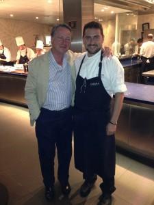 Paco Vañó and the chef David Olivas at Calima Restaurant