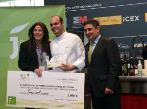 Castillo de Canena Segundo clasificado Premio de Cocina con Aceite de Oliva