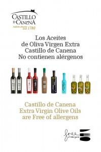 Castillo de canena AOVE EVOO Libre de alergenos - free allergens