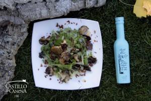 ahumado_smoked_setas_cardo_king_oyster_mushroom_salad_EVOO_AOVE_Castillo_Canena