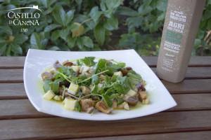 niscalos_lactarius_deliciosus_salad_EVOO_AOVE_Castillo_Canena