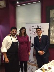 Junto al chef Hugo Ruiz Aguilar